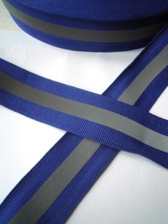 reflektierendes Ripsband, blau, breit