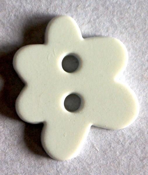 Blume, weiß, Knopf