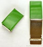Gürtelschnalle, 2,5 cm, grün