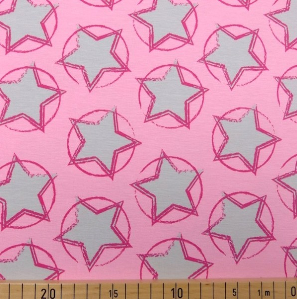 Stars in the Middle, rosa, Bio-Jersey