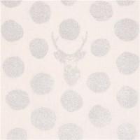 Echino Buck stag offwhite/silver, Canvas