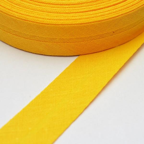 Schrägband, 20 mm, sonnengelb