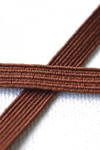 Flachgummi, dunkelbraun, 6,5 mm