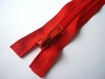 Reißverschluss, teilbar, rot