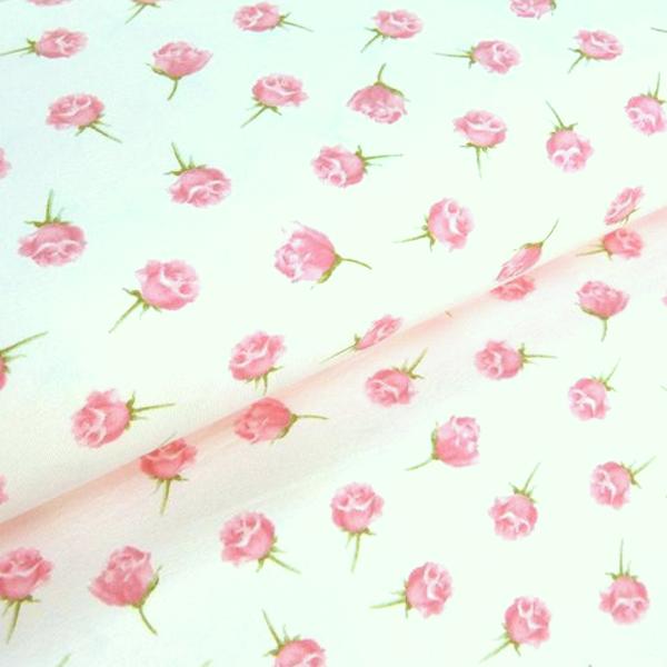 Duft-Jersey Rosen auf weiß