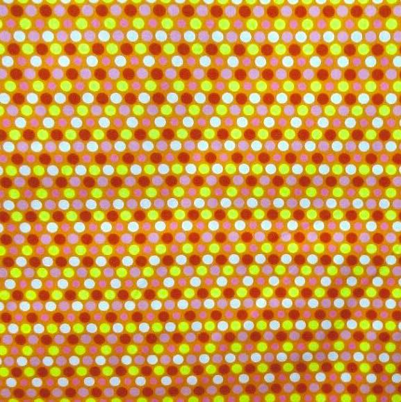 Lena, bunte Punkte, orange-gelb-rosa, Webstoff