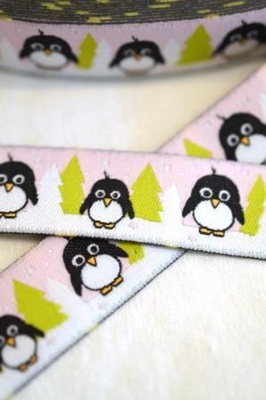 Pinguine, rosa, Webband