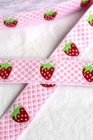 Erdbeeren, rosa, Webband