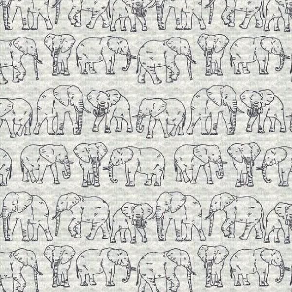 Steppsweat sand-meliert mit Elefanten