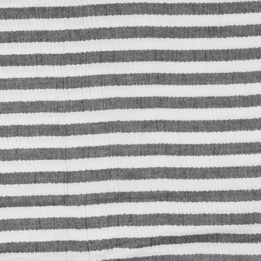 Double Gauze/Musselin, Stripes schwarz