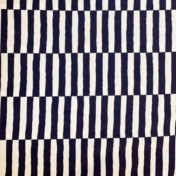 Dekostoff, Stripes blue offwhite *AKTION*