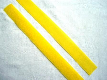 Klettverschluss, gelb