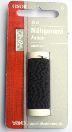 Nähgummi, schwarz
