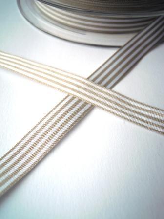 Stoffband, grau gestreift, 10 mm
