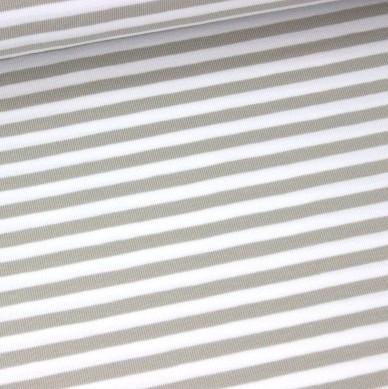Emil, Streifen beige-weiß, Jersey