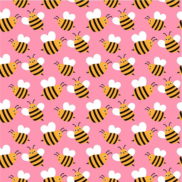 Bienchen auf rosa, Jersey