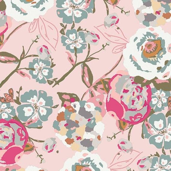 Art Gallery Bachelorette Garden Rocket, Blumen rosa, Jersey