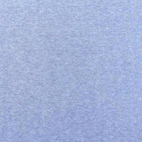 Glattes Bündchen hellblau-meliert