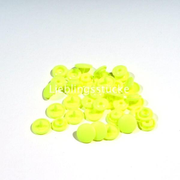 KAM Snaps, 10 Stück Packung, Neongelb - 36