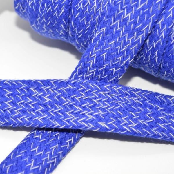 flache Kordel, 15 mm, royalblau meliert