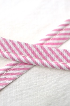 Paspelband, gestreift, rosa