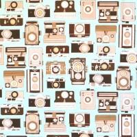 Cosmo Kameras hellblau, Webstoff