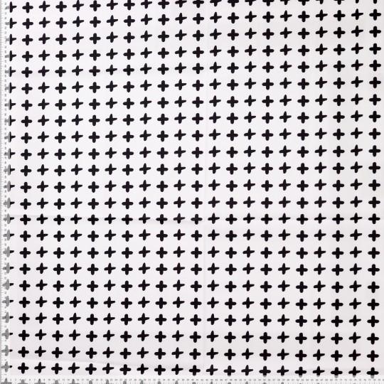 Crosses schwarz/weiß, Baumwollstoff