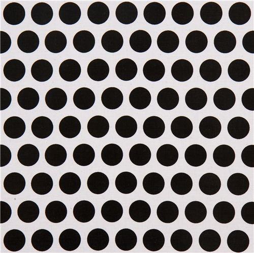 Riley Blake, Mystique, Punkte schwarz auf weiß, *Letztes Stück ca. 80 cm*