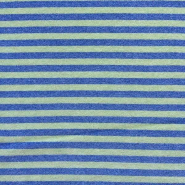 Nicky Streifen breit, jeansblau/lime meliert