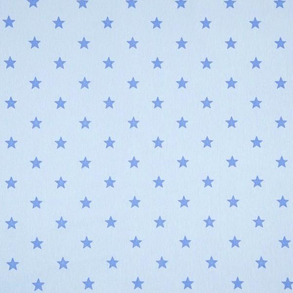 Bündchen mit Sternen, babyblau