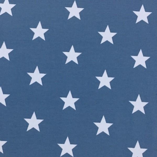 Stars weiß auf jeansblau, Jersey
