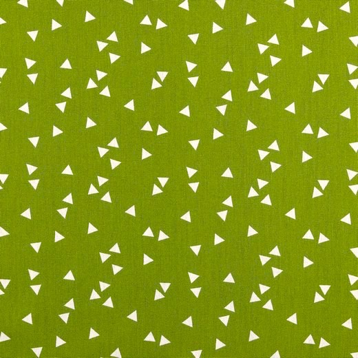 Lili Triangel waldgrün, Webstoff, waschbar bei 60°