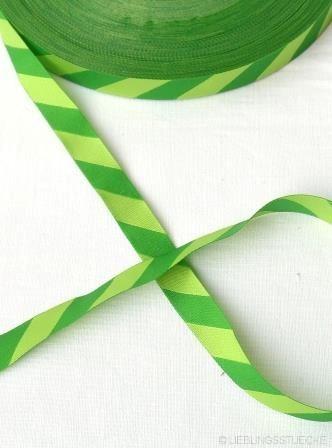 Happy Stripes, grün, Webband