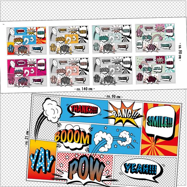 lillestoff Bio-Baumwollstoff, Comic-Masken, Paneel