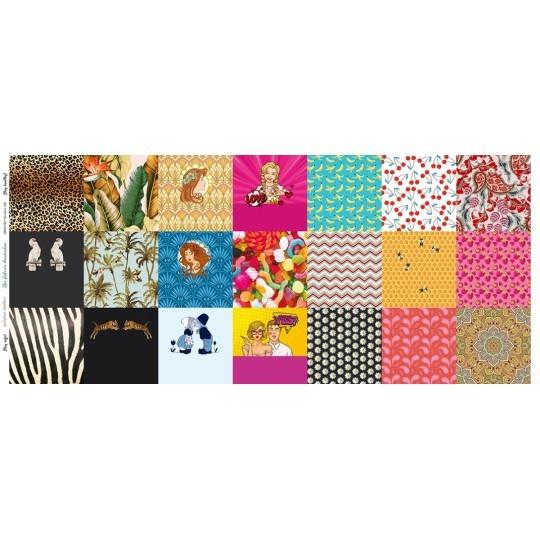 NEU! Maskenstoff Digitaldruck Pink für 21 Masken, Paneel, Baumwollstoff, waschbar bei 60°