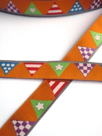 Wimpelkette, orange, Webband