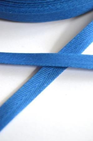 Köperband, 10 mm, mittelblau