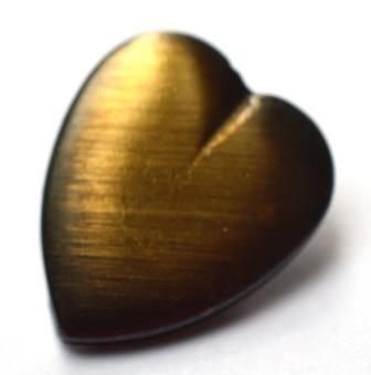 Herz, bronzefarben, metall