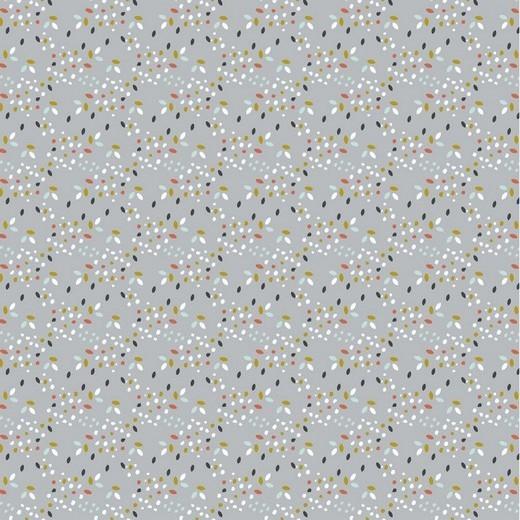 BIO-Baumwolllstoff, Safari Confetti grau, waschbar bei 60°