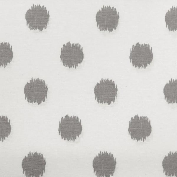 Circle grau auf weiß, Dekostoff, *Letztes Stück ca. 130 cm*