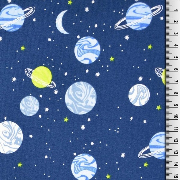 Planeten auf blau, Jersey