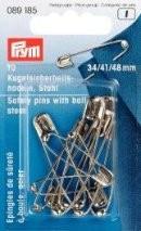 PRYM Sicherheitsnadeln mit Kugel, Stahl