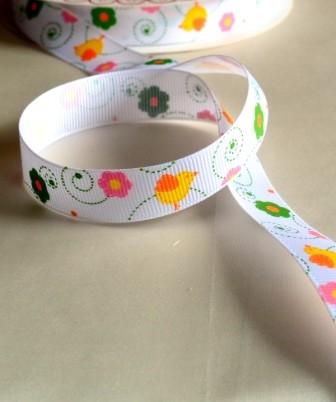 Küken und Blumen, Ripsband