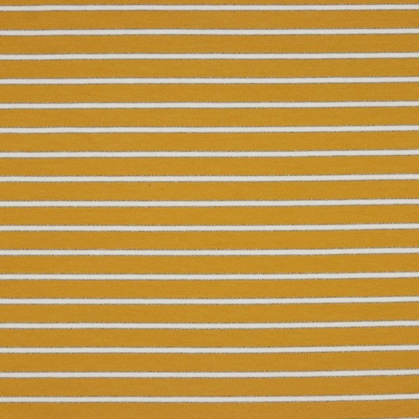 Sweat, Lurex-Stripes senf