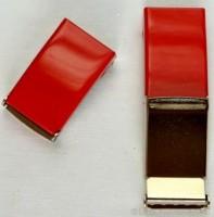 Gürtelschnalle, 2,5 cm, rot