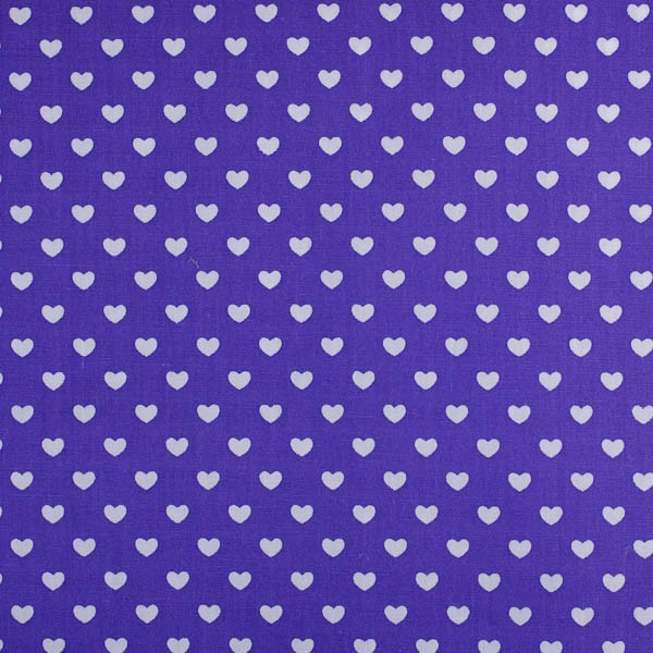 Herzen klein, lila, Webstoff
