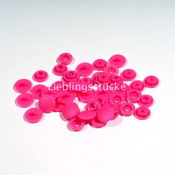 KAM Snaps, 10 Stück Packung, Pink - 47