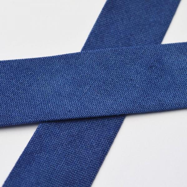 Tie Dye Schrägband, 20 mm, dunkelblau