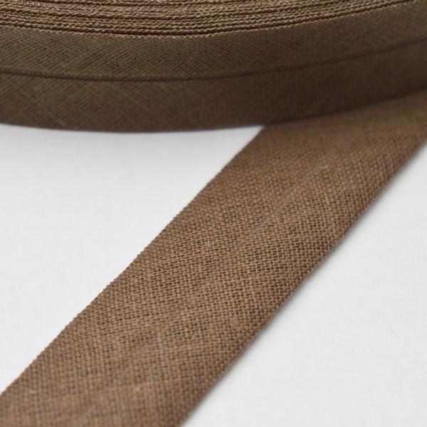 Schrägband, 20 mm, sepia