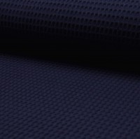 Waffelpique, dunkelblau